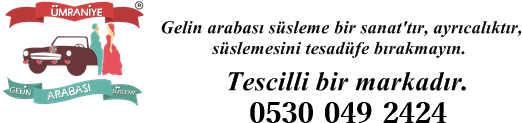 Ümraniye Gelin Arabası Süsleme | ALO 0530 049 24 24